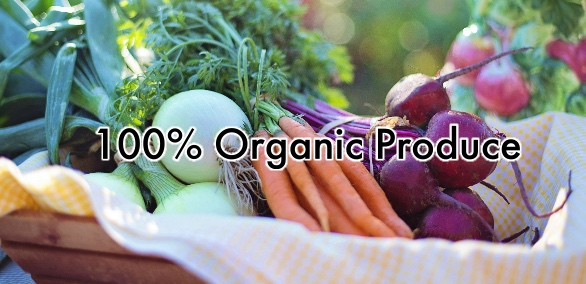 View our 100% Organic Produce